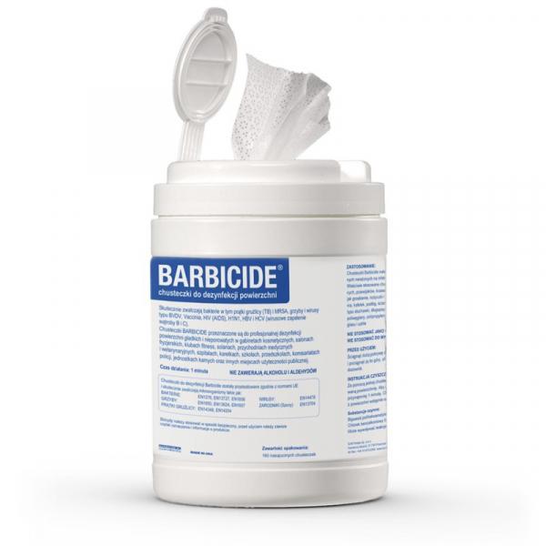 Chusteczki do dezynfekcji powierzchni BARBICIDE, 120 szt #1