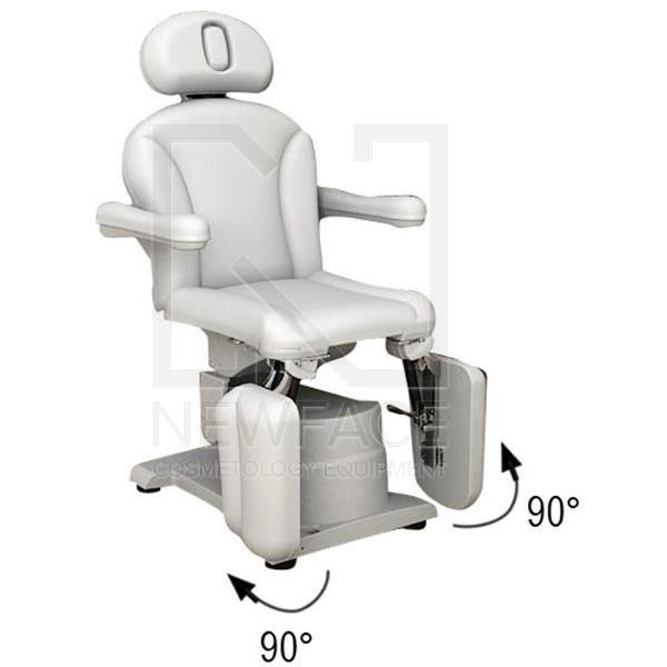 Fotel kosmetyczny elektryczny 2w1 optima #2