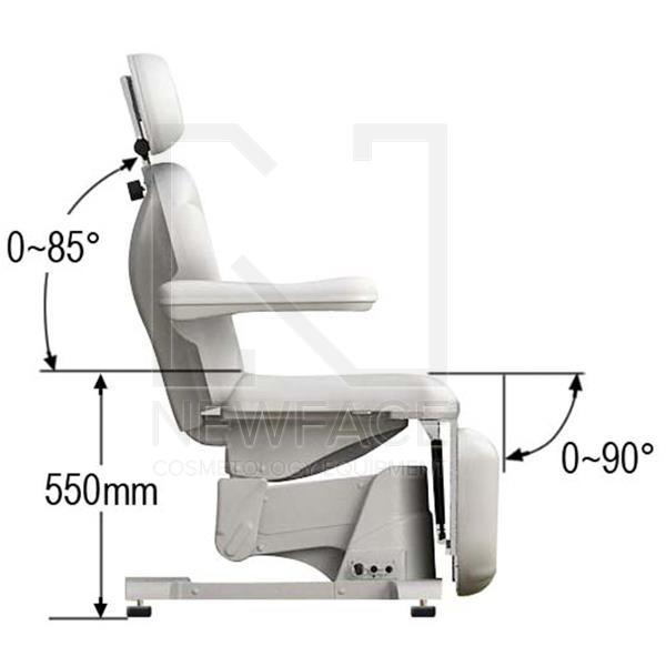 Fotel kosmetyczny elektryczny 2w1 optima #9