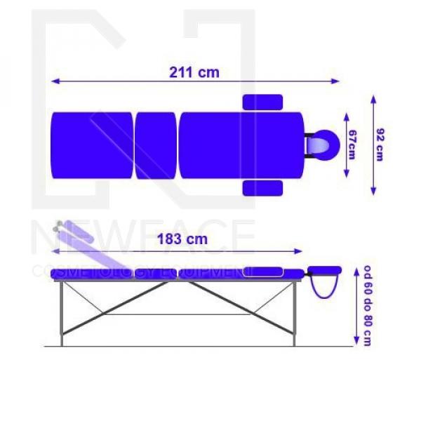 Stół Do Masażu Przenośny Składany Basic 2 Plus #3