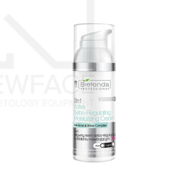 Bielenda Aktywny krem sebo-regulujący o działaniu nawilżającym +20 2w1, 50 ml #1