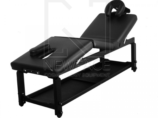 Stół Do Masażu Stacjonarny Spa Manual Black #1