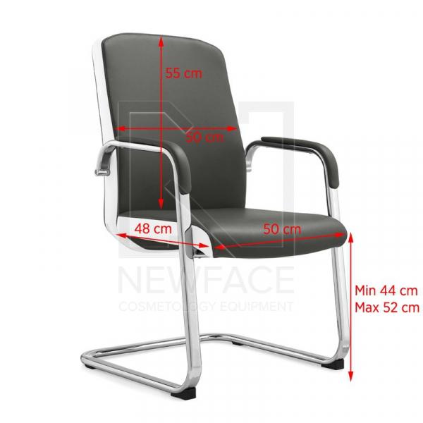 Fotel Kosmetyczny Rico C1501 Szaro-Biały #1
