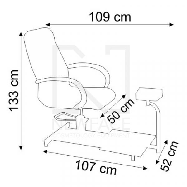 Fotel do pedicure hydrauliczny Spa 100 Biały #2