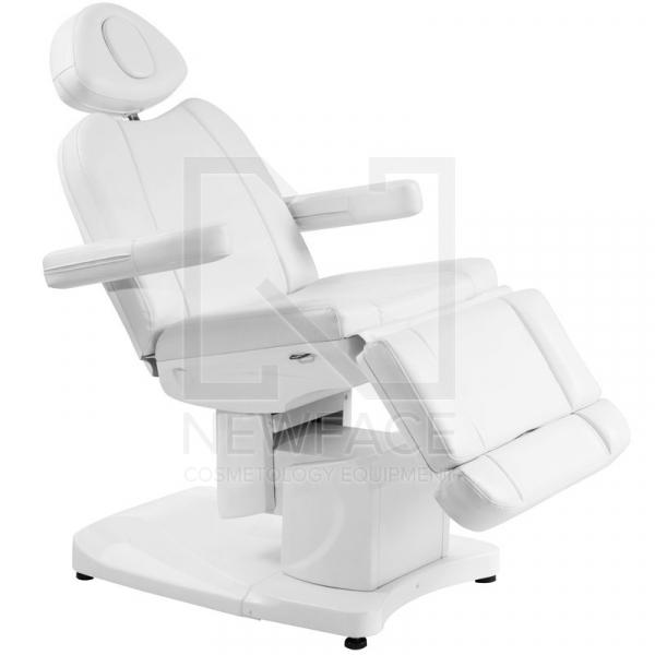 Fotel Kosmetyczny Elektr. Azzurro 708a 4 Siln. Biały #1