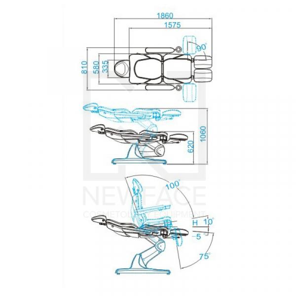 Fotel do pedicure Elektryczny Azzurro 870S Biały #8