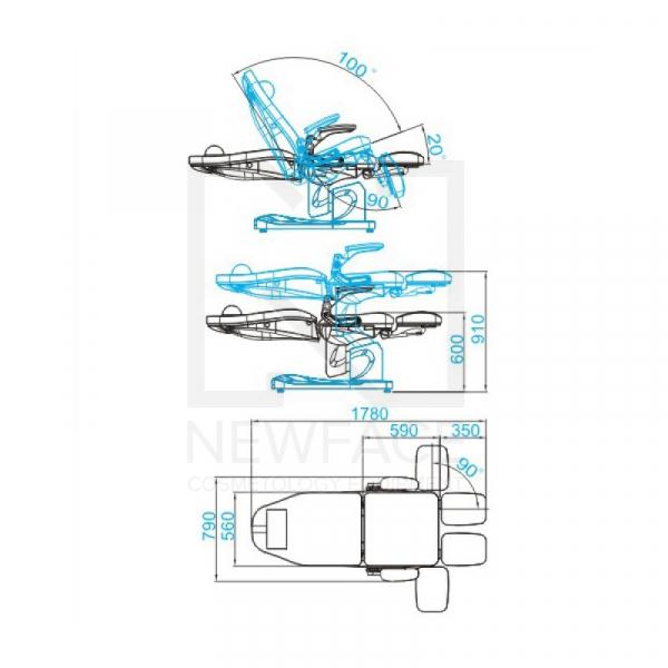 Fotel Podologiczny Elektryczny Azzurro 709A Cappuccino #8
